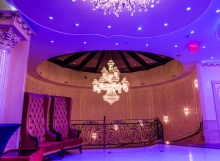 Upper Lobby Chandellier Night